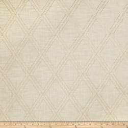 Jaclyn Smith 02615 Embroidered Linen Cashew Fabric