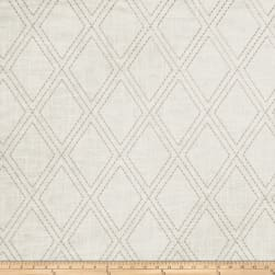 Jaclyn Smith 02615 Embroidered Linen Dove Gray Fabric
