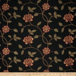 Trend 02730 Embroidered Taffeta Garnet Fabric