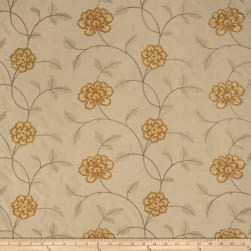 Trend 02730 Embroidered Taffeta Persimmon Fabric