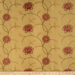 Trend 02730 Embroidered Taffeta Sienna Fabric