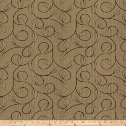Trend 02879 Jacquard Leaves Mocha Fabric
