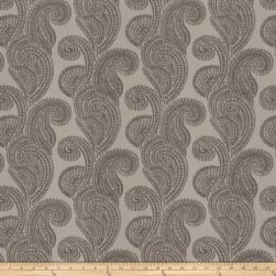 Trend 03105 Chenille Shell Paisley Silver Fabric