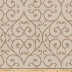 Trend 03297 Jacquard Flamestitch Scroll Natural Fabric