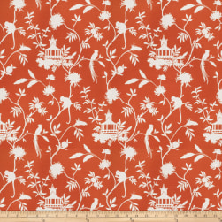 Vern Yip 03364 Linen Blend Orange Fabric