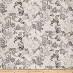 Vern Yip 03373 Linen Blend Floral Grey Fabric