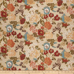 Vern Yip 03373 Linen Blend Floral Spice Fabric