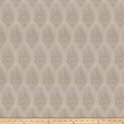 Vern Yip 03374 Jacquard Feathers Natural Fabric