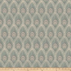 Vern Yip 03374 Jacquard Feathers Ocean Fabric