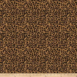 Trend 03421 Chenille Leopard Black/Gold Fabric