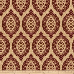 Trend 03439 Chenille Medallion Crimson Fabric