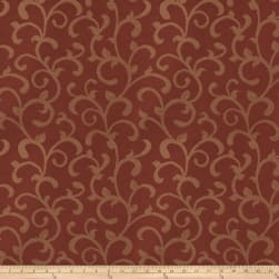 Trend 03481 Satin Jacquard Scroll Garnet Fabric