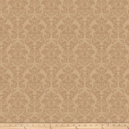 Trend 03483 Satin Jacquard Damask Buff Fabric