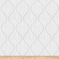 Trend 03654 Embroidered Faux Linen Ecru Fabric