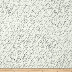 Kaufman Black & White Fly Snow Fabric