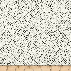 Kaufman Black & White Tiny Dots White