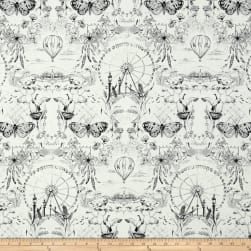 Kaufman Black & White Scenic Onyx Fabric