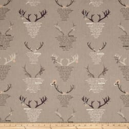 Art Gallery Blithe Linen/Cotton Eternal Nature Grey Fabric