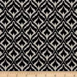 Pique Double Knit Whimsical Diamond Black/Ivory