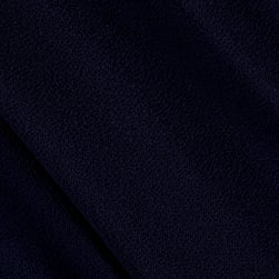 Fabric Merchants Bubble Crepe Solid Navy Blue Fabric
