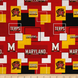 Collegiate Broadcloth University of Maryland Block Print