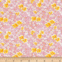 Nana Mae 1930's Medium Flower On Pink