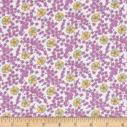 Nana Mae 1930's Medium Floral Lilac Fabric
