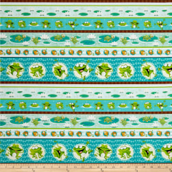 Frogland Friends Frog Stripe Aqua