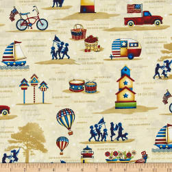 Libertyville Patriotic Folk Novelty Toss Cream
