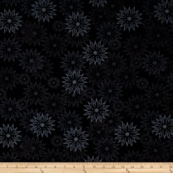 Timeless Treasures Forever Snowflakes Light Ebony Fabric