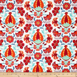 Alex Anderson Mirage Pomegranite Whisper White Fabric