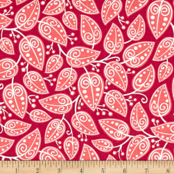 Alex Anderson Mirage Vines Raspberry Wine Fabric