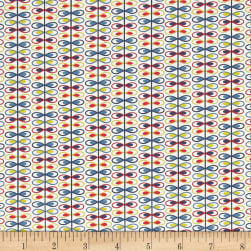 Alex Anderson Mirage Loop Stripe Whisper White Fabric