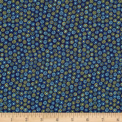 Alex Anderson Mirage Dots Estate Blue Fabric