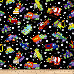 Monster Trucks Truck Toss Black Fabric