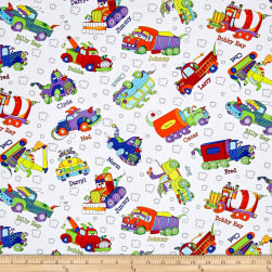 Monster Trucks Truck Toss White Fabric