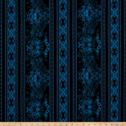 Jinny Beyer Burano Lace Border Blue Fabric