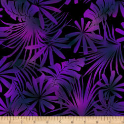 Jinny Beyer Burano Palm Leaf Magenta Fabric