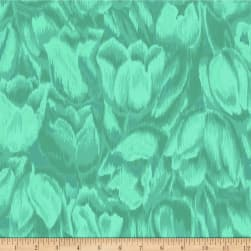 Jinny Beyer Burano Tulips Teal Fabric