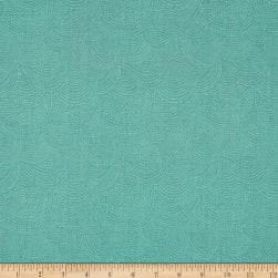 Dear Stella Perch Scallop Dot Teal Fabric