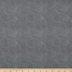 Dear Stella Perch Scallop Dot Graphite Fabric