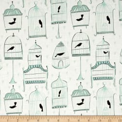 Dear Stella Perch Birdcages White Fabric