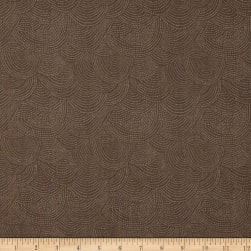 Dear Stella Foxtail Fern Scallop Dot Mocha Fabric