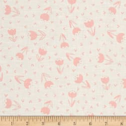 Dear Stella Fresh Dew Tulip Joy White Fabric