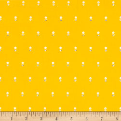 Dear Stella Fresh Dew Daisies Yellow Fabric