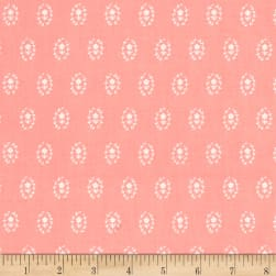 Dear Stella Fresh Dew Flower Medallions Salmon Fabric