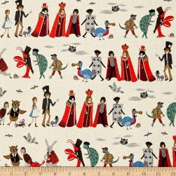 Cotton + Steel Rifle Paper Co. Wonderland Procession Neutral