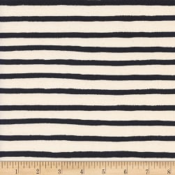 Cotton + Steel Rifle Paper Co. Wonderland Cheshire Stripe White
