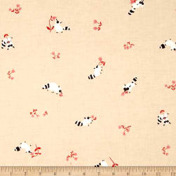 Cotton + Steel Yours Truly Tanuki Peach Fabric