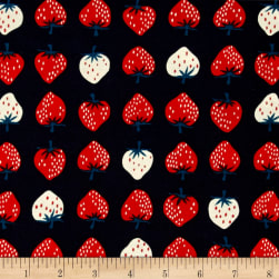 Cotton + Steel Yours Truly Strawberry Red Fabric